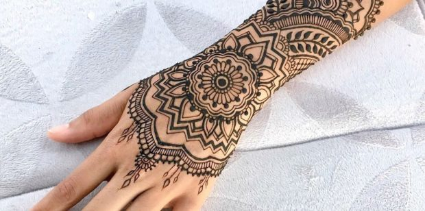 Henna tattoo's and festival glitter at the Summer Ball….
