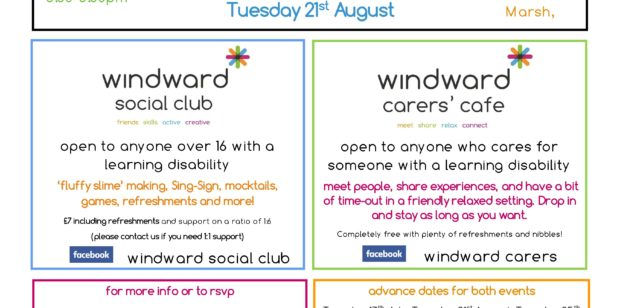 Parent and Carer Café and Social Evening on 21st August
